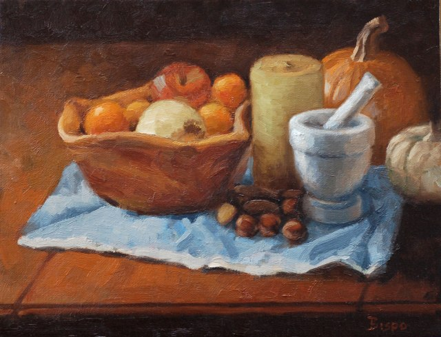 Still Life with Oranges, © 2013 L. Lawrence Bispo