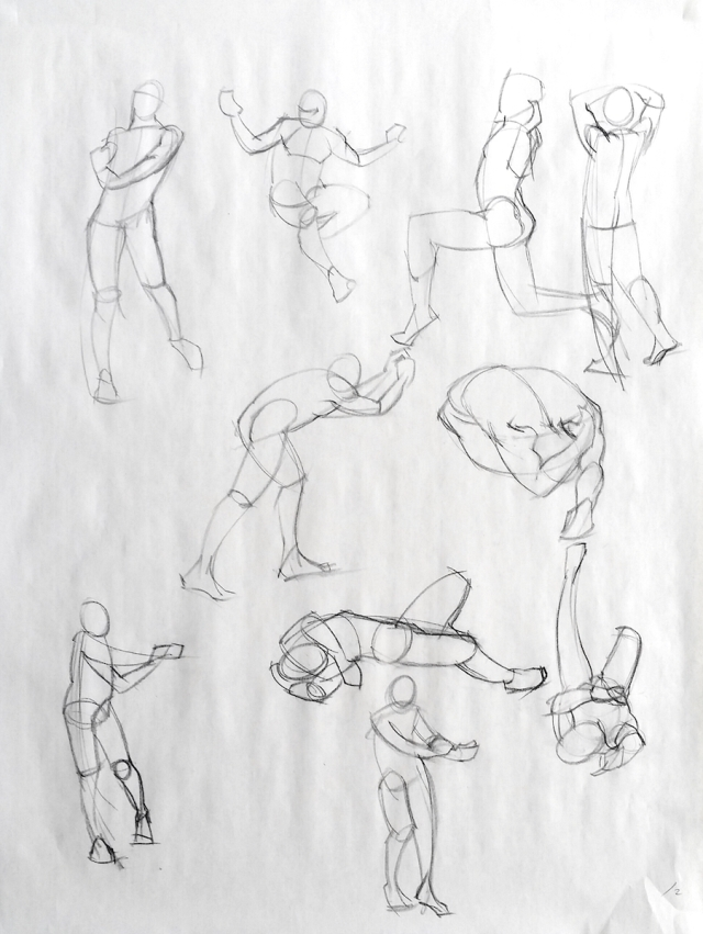 2 minute quicksketches
