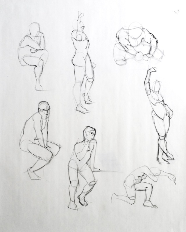 3-minute figure drawings