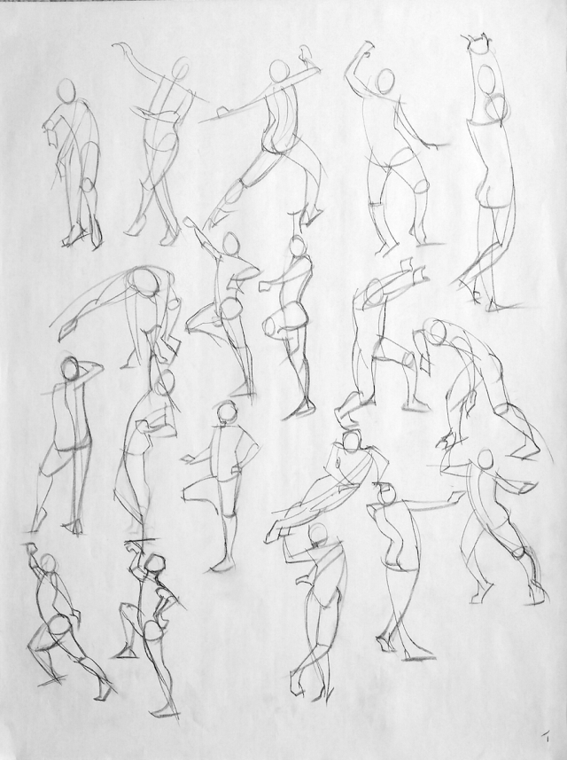 1-minute figure quicksketch